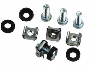 "19"" Mounting set M6, 50 pcs. each: screw, nut, washer"