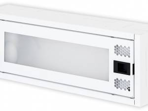 Data Homecabinet, 1-row,  8x TOOLLESS, 1x 230V, WLAN RAL9003