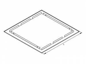 Flushmount Combiframe for Homecabinet 5, RAL9003