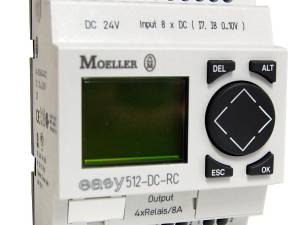 EASY512DCRC-24VDC, control relay, 8IN-dig, 4OUT-relay, clock