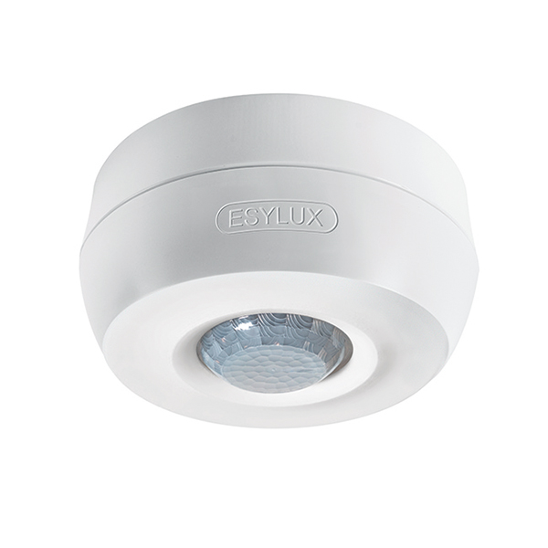 Motion detector for ceiling mounting, 360°, Ø8m, IP40