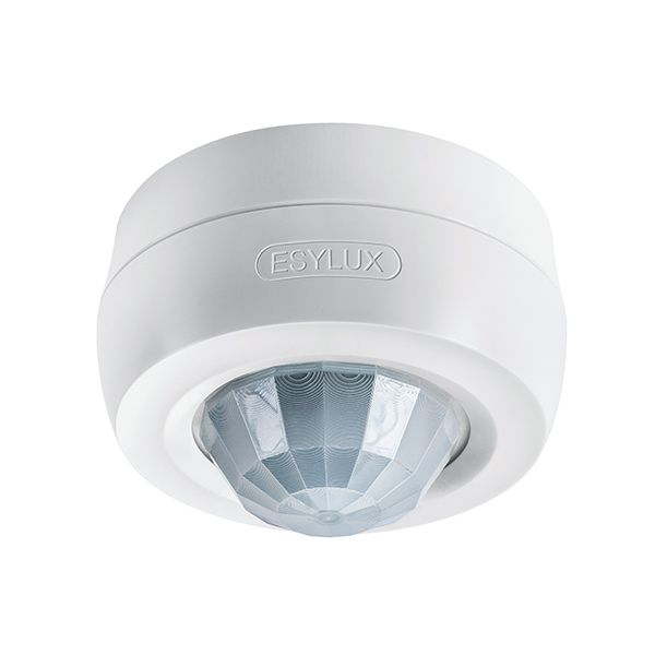 Motion detector for ceiling mounting, 360°, Ø24m, IP40