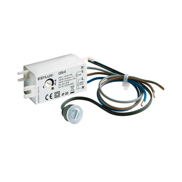 Flush mounted twilight switch, IP20/IP44, 5-300 lx