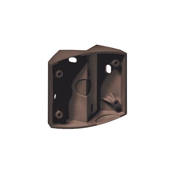 Corner bracket for motion detector series MD, brown