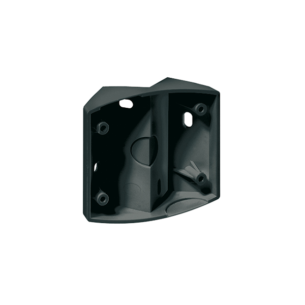 Corner bracket for motion detector series MD, black