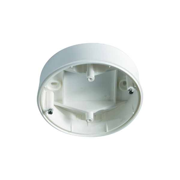Surface-mounted box IP 20 for detector Serie C, white
