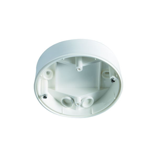 Surface-mounted box IP 54 for detector Serie C, white