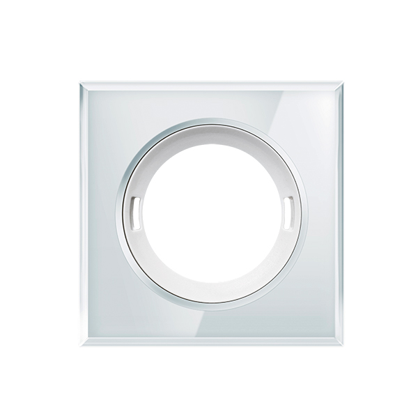 Glas cover for presence and motion detectors, square