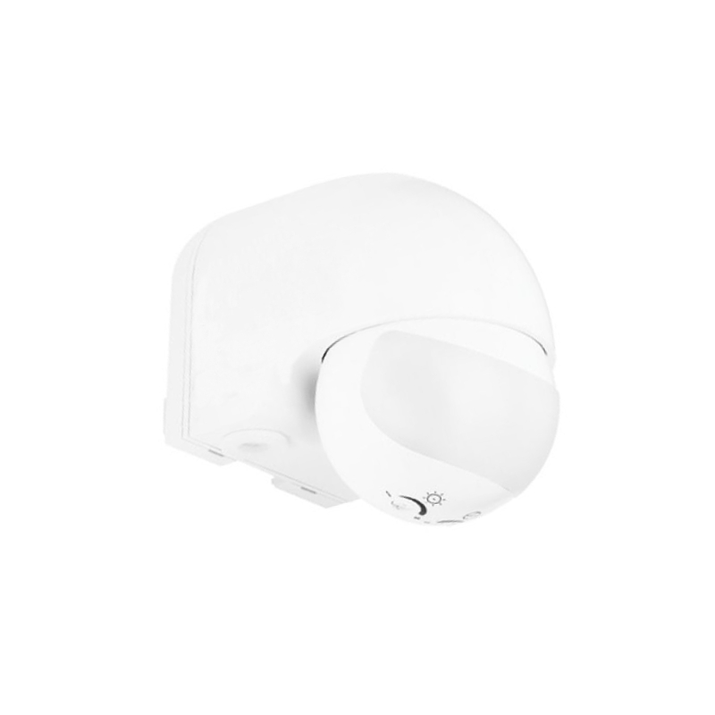 Motus MS-W 180°, Ø 12m, IP44, white, not suitable for LED