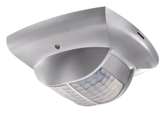 KNX-Presence detector, ceiling, 360°/68m²/IP40, silver