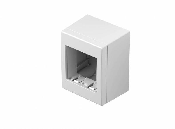 Wall mounted housing with back side cover 2M, white