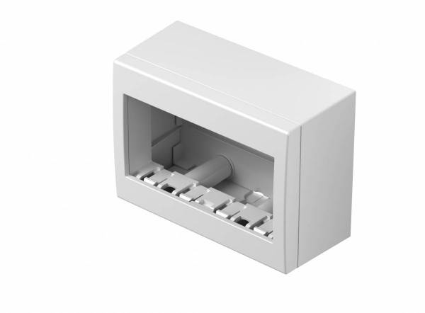 Wall mounted housing with back side cover 4M, white