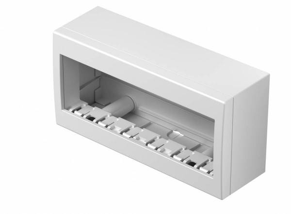 Wall mounted housing with back side cover 6M, white