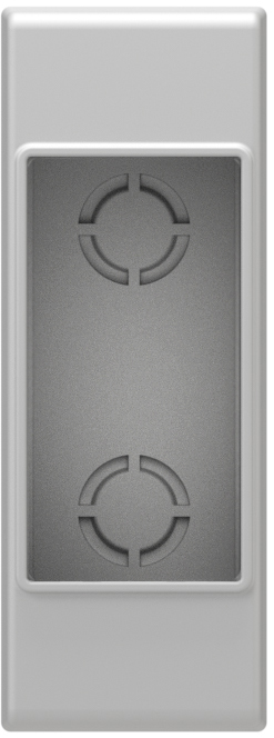 Wall mounted housing with back side cover 1M, IP20, white