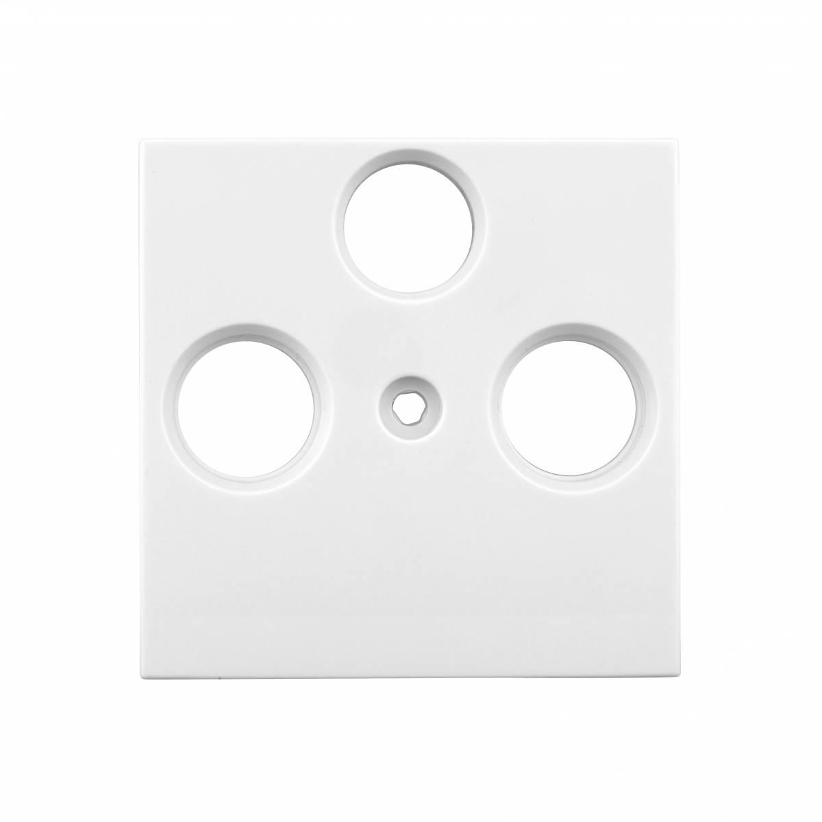TV cover, 3-hole, white