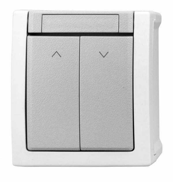 Surface m. blind switch 2 buttons with lock system, IP54