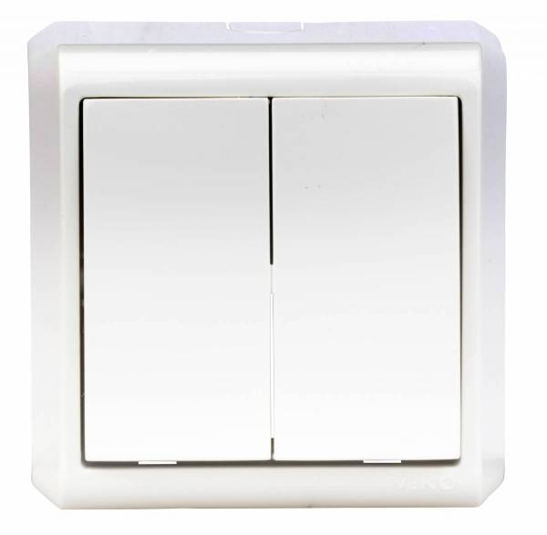 Wall mounted series switch, screw connection, IP20, white