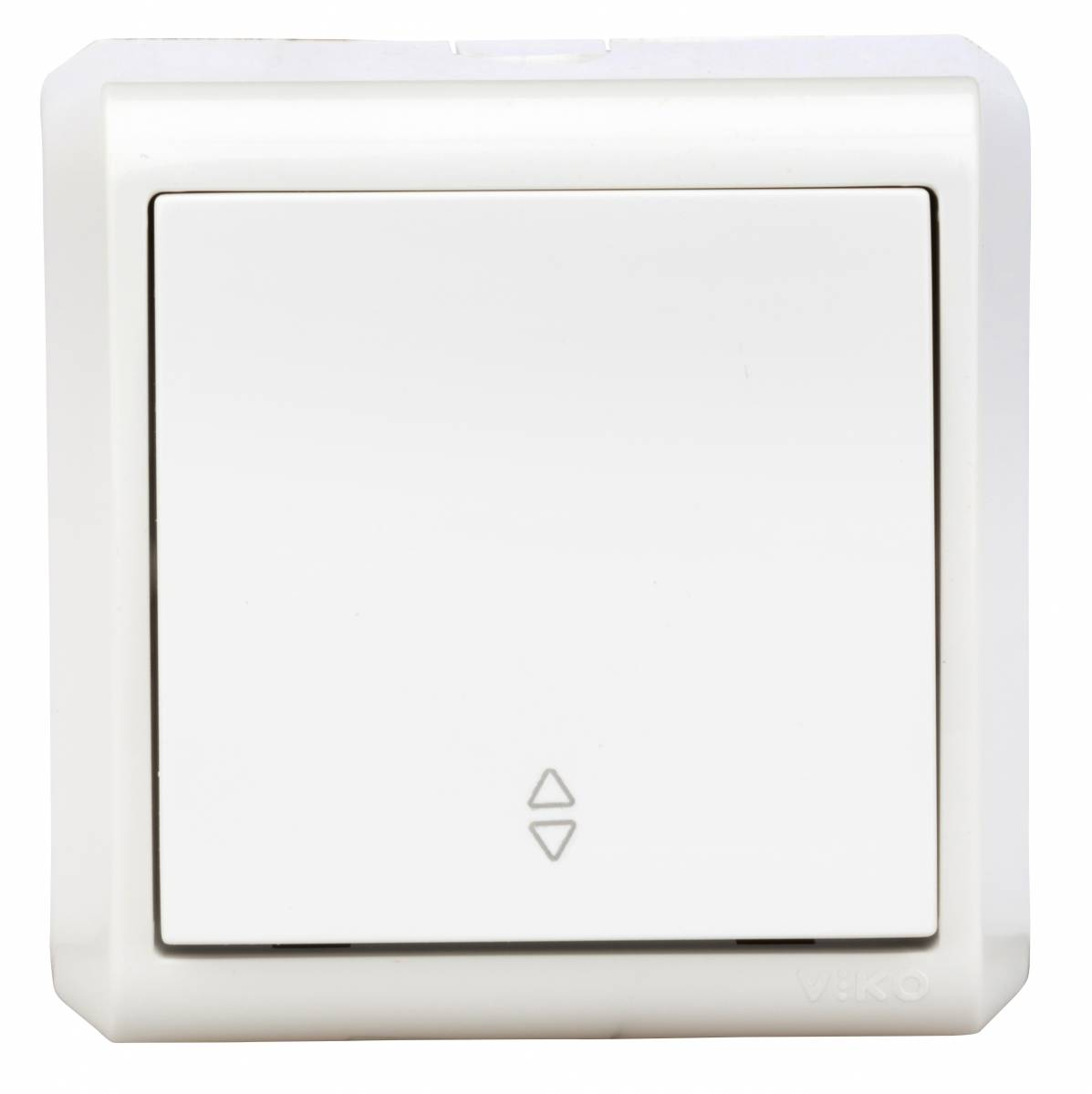 Wall m. changeover switch, screw connection, IP20, white
