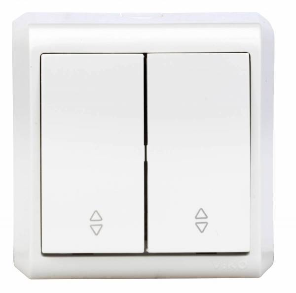 Wall m. changeover/changeover switch, screw con, IP20, white