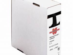 Heat-shrinkable tube, thin-wall, black 25,4/12,7mm 1box=5m