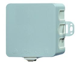 Wall junctionbox 75x75xd40mm, plastic, membrane