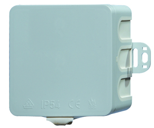 Wall junctionbox 85x85xd40mm, plastic, membrane