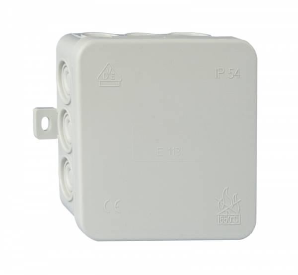 Wall junctionbox 85x85xd40mm, PP+PE, selfseal cutout