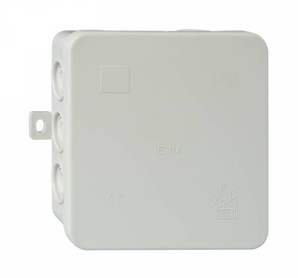 Wall junctionbox 100x100xd40mm, PP+PE, selfseal cutout