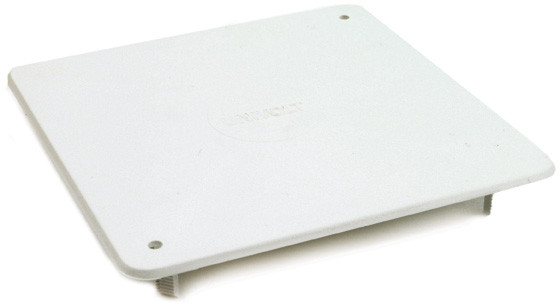 Cover lid, 100x100 mm, white