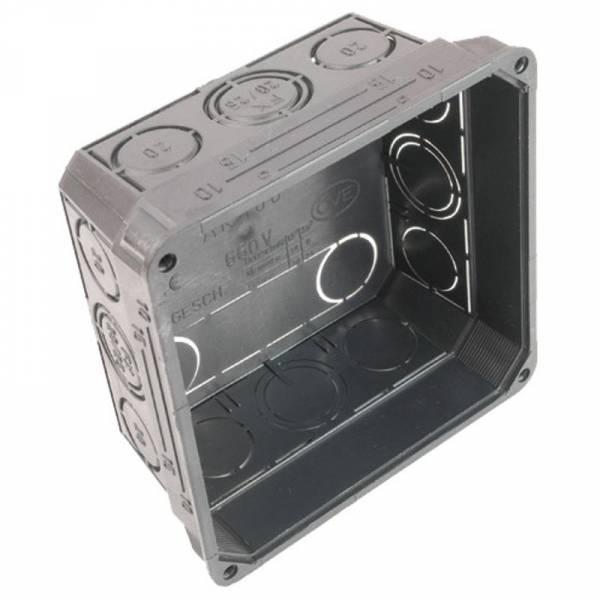 Distribution box, flush type, 75x75x50 mm, halogenfree black