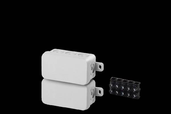Damp area junction boxes IP54, 75x37x40mm, with 5 pole socke