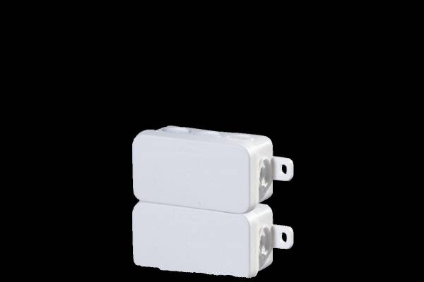 Damp area junction boxes IP54, 75x37x40mm