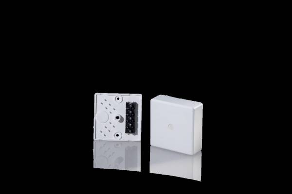 Surface mounted junction socket IP 30, 75x75x25mm