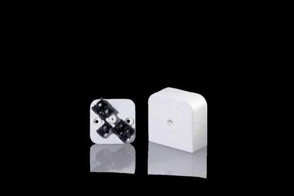 Surface mounted junction socket IP 30, 55x55x25mm