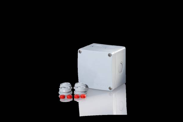Damp area junction boxes IP65, for pipes up to 4mm²