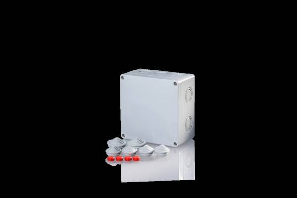 Damp area junction boxes IP65, for pipes up to 10mm²