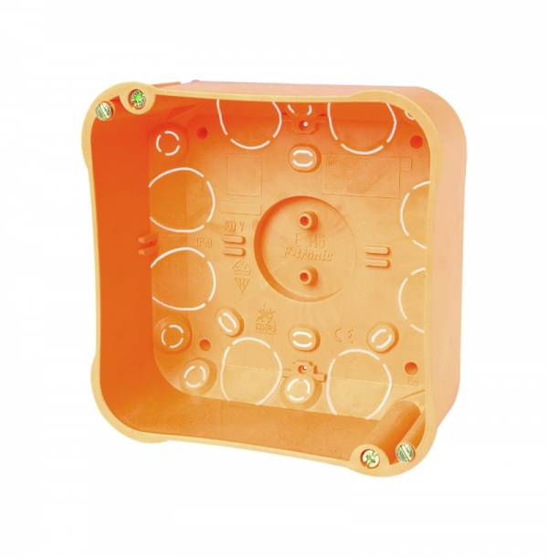 Cavitywall junction box 107x107xd50mm,orange, cover-white,PP