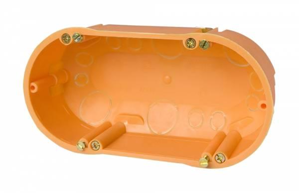 Cavitywall double socket 2x60/d47mm, orange, PP