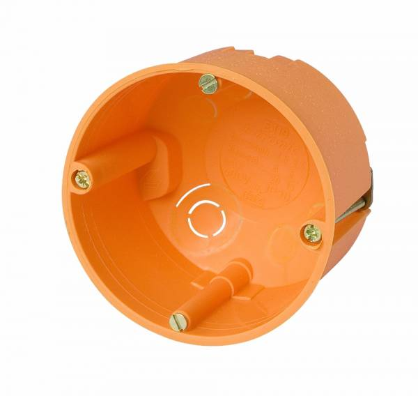 Cavitywall junction box di70/50mm, orange, cover white, PP