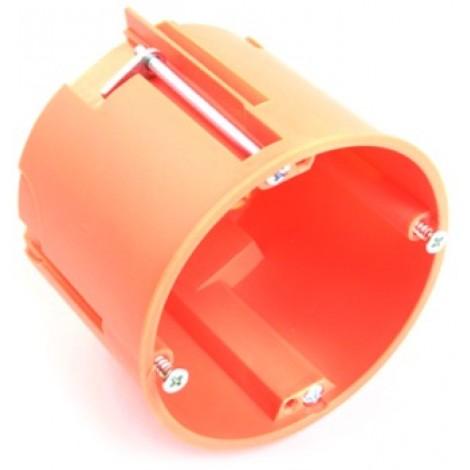 Distribution box, Ø 65 mm, 60 mm, chlorinefree, orange