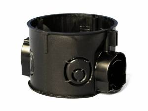 Flush mounted socketbox di60/d41mm, connection M25, black PS