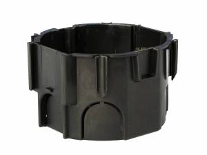 Flush mounted socketbox di67/d45mm, black, PS, for AT