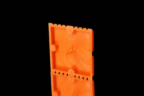 Square plaster cover for multiple flush-mounted device socke