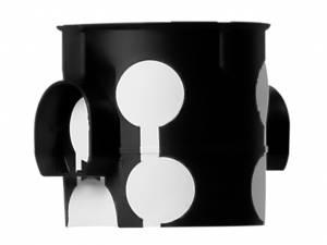 Flush mounted socketbox, windproof di60/d61mm, M20/25, black