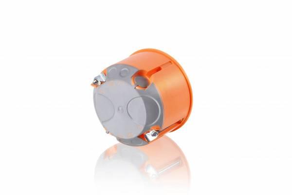 Cavitywall socket box, windproof di60/d47mm, orange, M20, PP