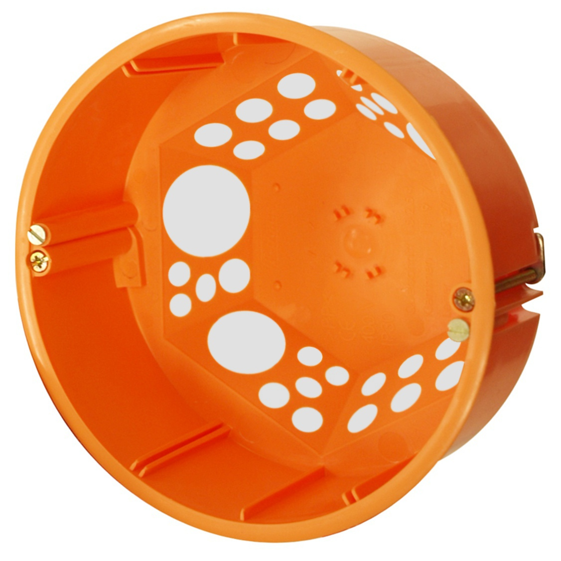 Flush windproof cavity wall junction box, Ø 120 mm with cap