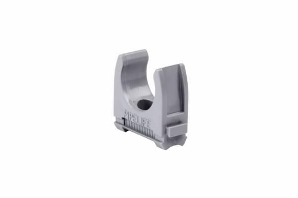 interlinkable clip M16, carton 100pc, grey