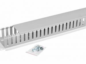 """19"""" Cable management panel with cable trunk 1 sided,2U,R7035"""