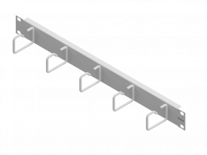 Routing Panel 1U with 5 Cable Clamps of Steel 60mm RAL7035