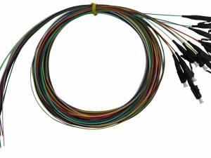 FO Pigtail LC, 50/125µm OM4, 2.0m, 12 pcs, PREMIUM Class B